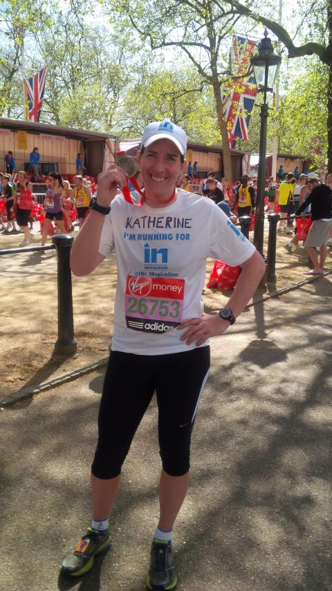 Katherine Grainger completes the 2014 London Marathon