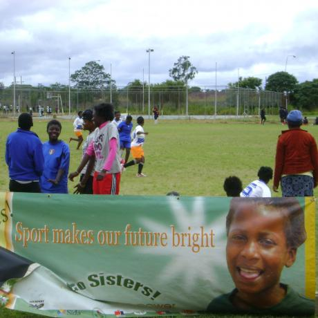 A Go Sisters tournament in provincial Zambia